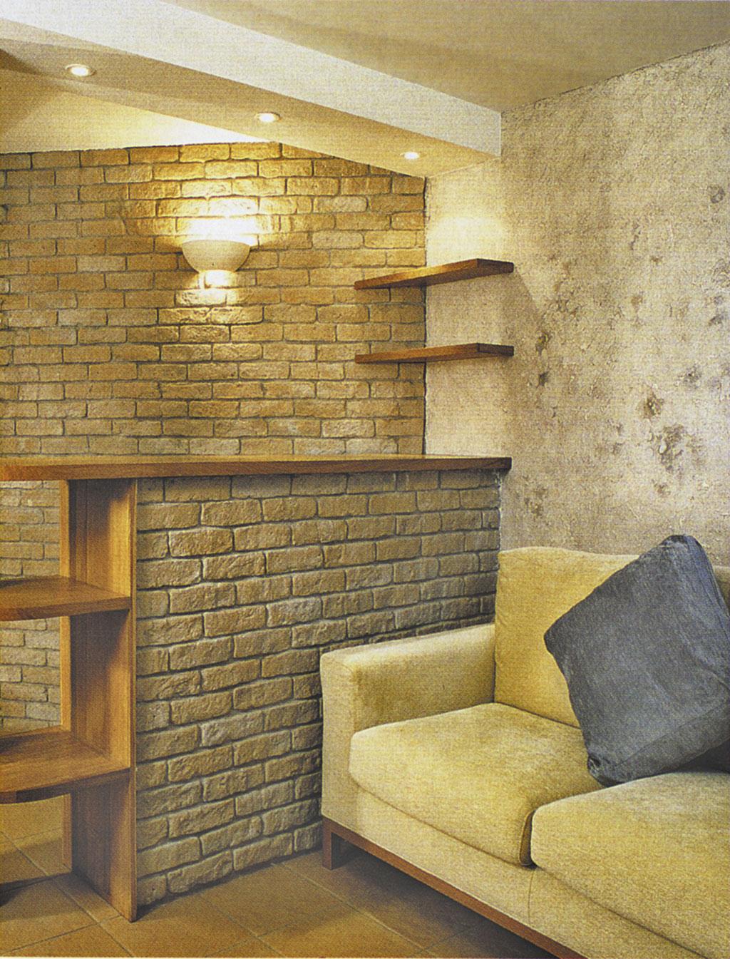 Дизайн квартиры с использованием камня